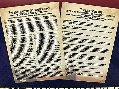 2  Historical Posters-Bill of Rights& Declaration of Independence (Large  20x28