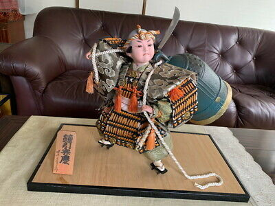 Japanese Traditional Antique Vintage Samurai doll warrior Figure  Armor BENKEI