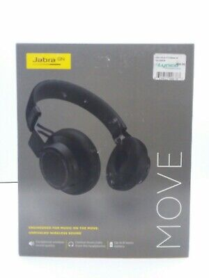 Jabra Move Wireless Bluetooth Stereo Headset - Black - BRAND NEW IN BOX