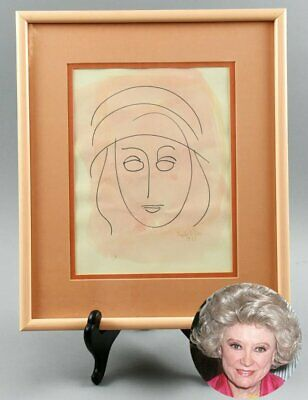 """Abstract Watercolor Signed by Phyllis Diller """"MADGE"""""""