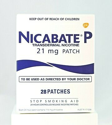 Nicabate P Transdermal Nicotine Patch 21mg 28 Patches Stop Quit Smoking Aid NEW