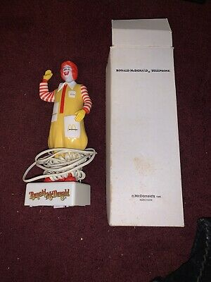 1985 RONALD McDONALD'S VINTAGE REAL STANDING TELEPHONE