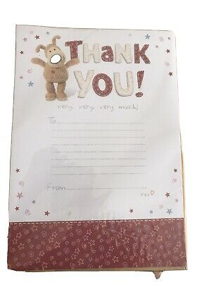 Boofle Thank You Sheets With Envelopes New In Packet