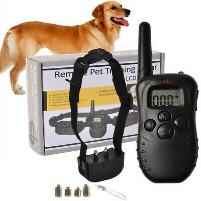 Petrainer Electronic Dog Shock with Remote Waterproof Pet Dog Training Collar US