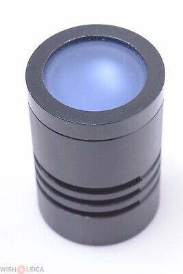 Leica, Leitz Microscope Illumination Lamp Diffuser 26Mm Diameter Blue Filter