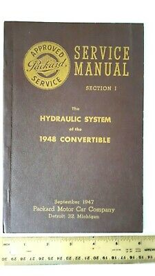 1948 PACKARD Convertible - Hydraulics SM B&W Catalog - Excellent Condition- (US)