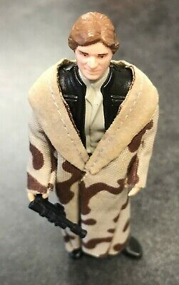 Vintage Star Wars Han Solo (Trench Coat Plain Collar) - 1984 - Complete