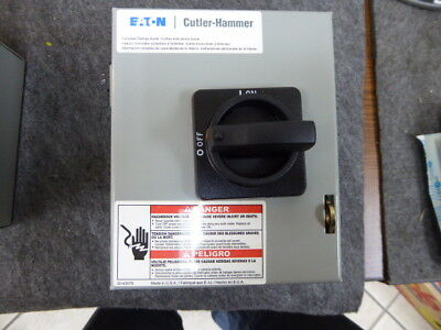 Eaton Cutler-Hammer DR3016UG Rotary Disconnect Switches New