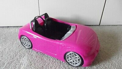 Barbie Glam Convertible Car Deep Hot Pink With Black Seats Mattel 2013