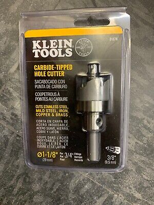 "Klein Tools 31876 Carbide Tipped Hole Cutter , 1-1/8"" ( 29MM )"