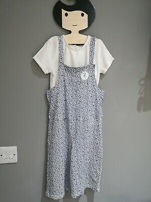 Gorgeous Girls NEXT t-shirt & Dungaree Set Age 5-6 BNWT Pretty Floral