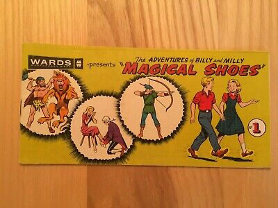1958 Montgomery Ward Comic Book for Magical Shoes #1 They feel Wonderful Billy !