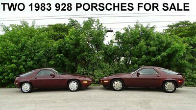 1983 Porsche 928 TWO 928 PORSCHES FOR SALE TWO 1983 PORSCHE 928'S UP FOR AUCTION IN NEED OF SOME TLC BOTH RUN AND COMPLETE