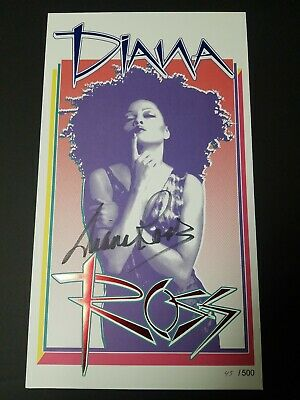 Diana Ross Autographed Poster