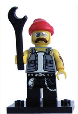 Lego Motorcycle Mechanic Collectible Minifigure Series 10  col160 CMF Genuine