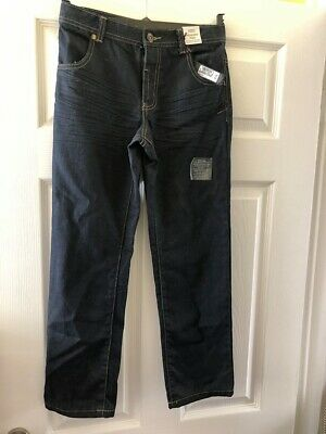 New Marks & Spencer M&S Boys Indigo Adjustable Waist Jeans Age 10 Years