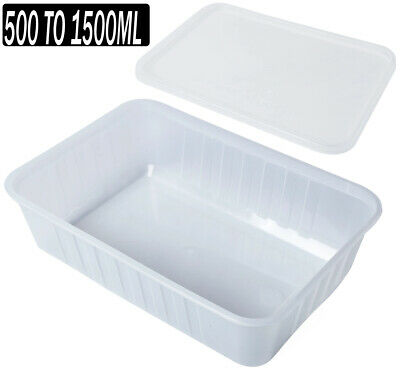 TAKE AWAY CONTAINERS & LIDS PLASTIC FOOD CONTAINER 500,100,15000ml