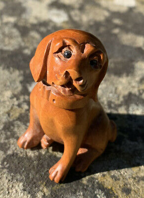 lovely Chinese old boxwood hand carved pig figure statue netsuke collectable