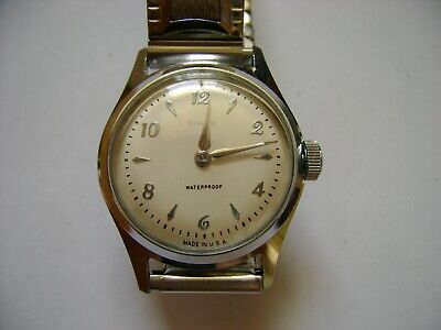 Vintage Men Early Wind Up Timex Us Time ,Run And Keep Time