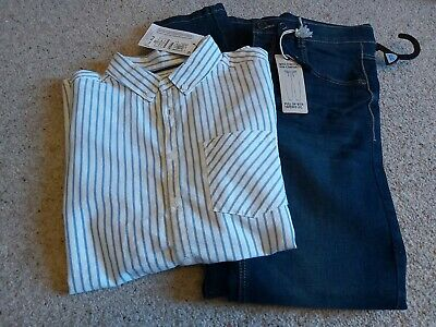 Bnwt marks And Spencer Boys Jeans And Shirts 12-13