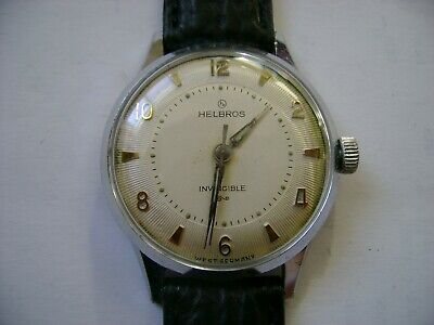 Vintage Wind Up Helbros Run And Keep Time