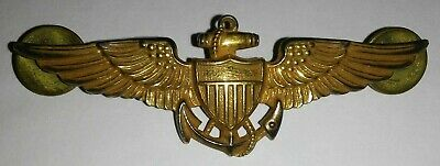"WW 2 10k GF. on STERLING USMC 2.75"" Combat Aviator Wing Pin-WW II Marines"