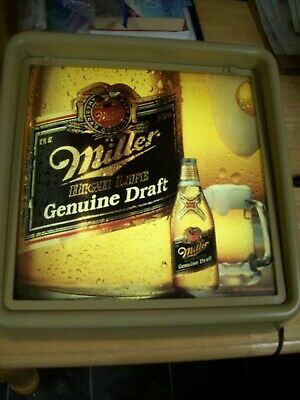 Vintage 1987 Miller High Life Genuine Draft Lighted Beer Sign