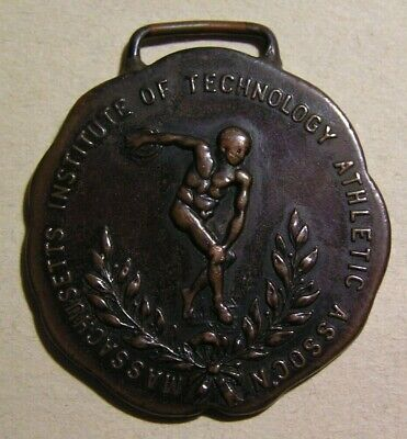 1910 Mit Massachusetts Institute Of Technology Athletic Assn Watch Fob Medal