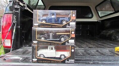 3 Pc Truck Set 1955 Chev, 1937 Ford, 1953 Ford Diecast Tractor