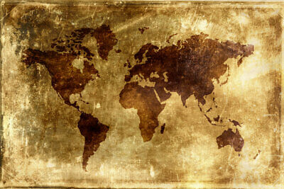 Canvas Print Painting Wall Art Old World Map Vintage Modern Home Bedroom Decor