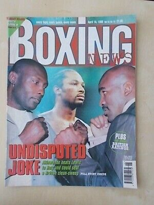 BOXING NEWS 10th APRIL 1998 EVANDER HOLYFIELD TO FIGHT HENRY AKINWANDE