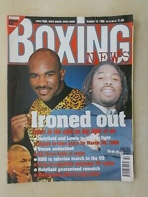 BOXING NEWS 16th OCTOBER 1998 LENNOX LEWIS TO FIGHT EVANDER HOLYFIELD