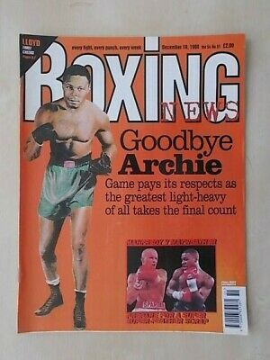 BOXING NEWS 18th DECEMBER 1998 TRIBUTE TO ARCHIE MOORE