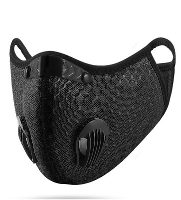 USA SELLER Face Mask W/ Free Filter Double Valve Reusable Washable Adjustable