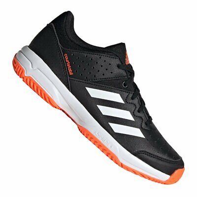 ADIDAS BOYS COURT Stabil Shoes Orange Sports Tennis
