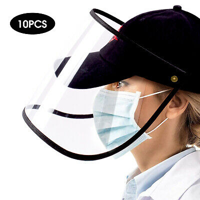 10 PCS Safety Full Face Shield Reusable Washable Protection Cover Face Mask