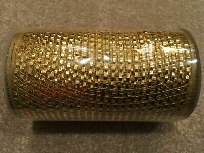 Celebrate It Christmas Ribbon Extra Wide Gold 5 1//2 inch 6 Yd Roll New