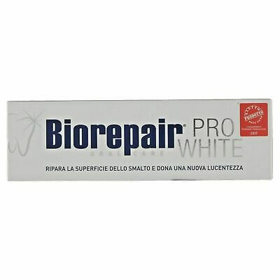 Biorepair ProWhite Toothpaste Restores Teeth Whitening Protection Free P&P