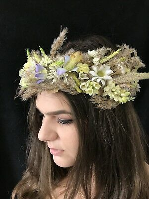 Floral Head Crown, Headband, Hippy, Bohemian festival, wedding, Prom.