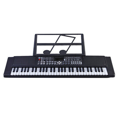 61 Key Music Electronic Keyboard Electric Digital Piano Organ With MIC & Adapter