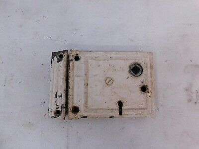 Antique 1800's LOCKSET & CATCH Face Mount VICTORIAN Style Architectural Salvage