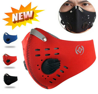 USA SELLER Cycling Air Purifying Face Mask Cover Haze Washable Reusable Filter *