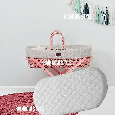 Moses Basket Mattress Soft Cushy Anti Allergic Quilted Waterproof Breathable