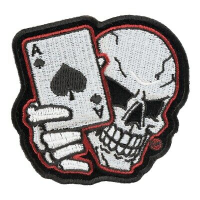 Subdued Vibrating Skull Motorcycle Patch Biker Skull Patches