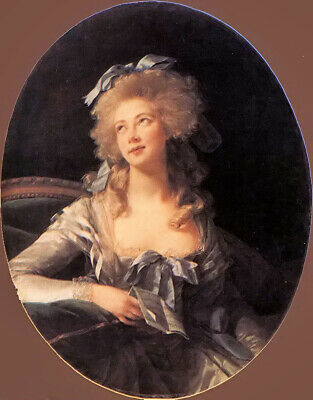 Oil painting Vigee-Lebrun - portrait of madame grand noble lady hand painted art