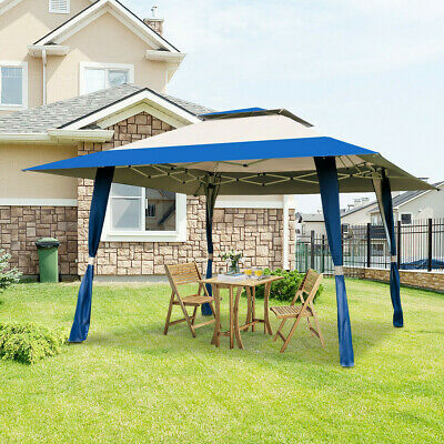 Outdoor Folding Gazebo Canopy Shelter, Portable Awning For Patio