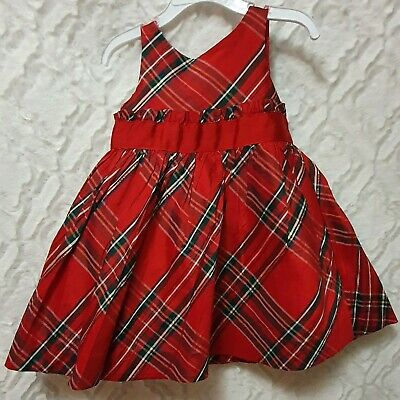 NWT Janie and Jack baby girl SPRING pink plaid bow dress 0 3 6 12 18 24 TWINS