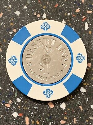 RARE $1 Poker Gambling Chip (Texas Hold'Em)-Desert Inn Casino, Las Vegas, Nevada