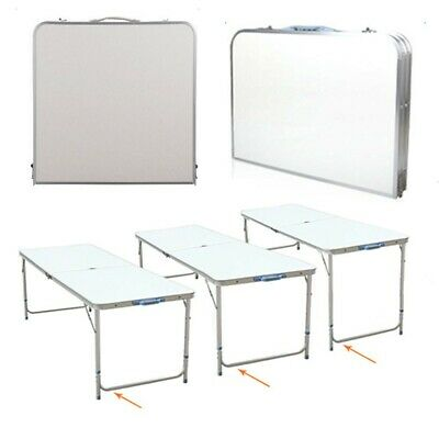 4FT Aluminum Portable Adjustable Folding Table Camping Outdoor Picnic Party BBQ