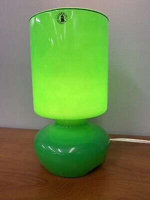 IKEA GREEN GLASS Table Lamp Lykta Light